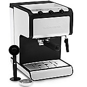 Andrew James Barista Coffee Maker Machine in Stainless Steel with 1.4L Capacity - 850w