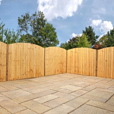 Mercia Curved Feather Edge Fence Panel 5ft Dipped