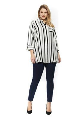 Evans Striped Plus Size Shirt Multi 20