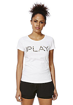 Only Play Tiggy Logo T-Shirt - White