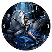Blue Moon, Unicorn and Lady Wall Clock