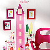 Princess Height Chart Wall Sticker