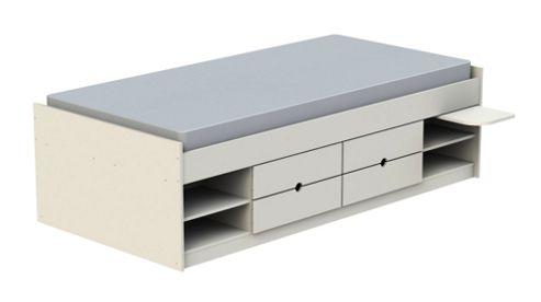 Ashcraft Teen Functional Cabin Bed Frame - White