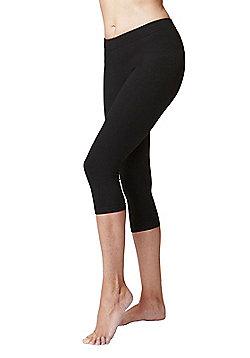 Women's Slimming Shaping Yoga Cropped Leggings - Black