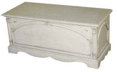Thorndon Beverley Blanket Box in Antique Cream