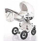 DaVos Moto Style Pure Leather 2 in1 Pram and Pushchair Grey