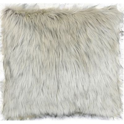 Faux Fur Cushion - Mink & Beige