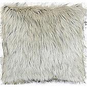 Faux Fur Cushion - Mink & Beige