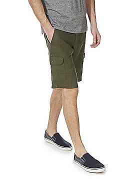 F&F Linen Cargo Shorts - Khaki