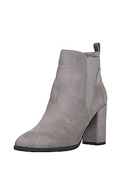 F&F Sensitive Sole Heeled Chelsea Boots - Grey