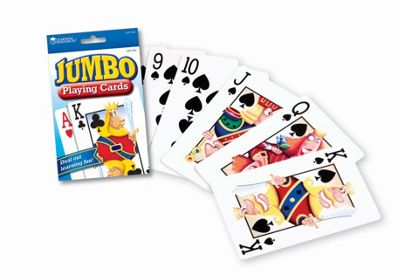 Learning Resources Jumbo Playing Cards