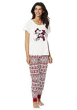 Disney Mickey Mouse Christmas Pyjamas - Cream