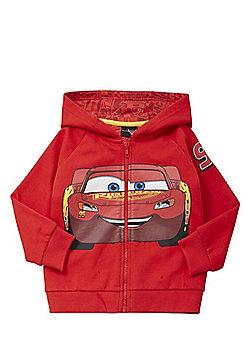 Disney Pixar Cars Lightning McQueen Zip-Through Hoodie - Red