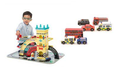 Le Toy Van Mike's Auto Garage and London Car Set