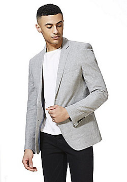 F&F Regular Fit Jacket with Linen - Grey
