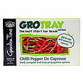 Mr Fothergill's GroTray - Cayenne Chilli Pepper Seeds, Compost & Propagation Kit