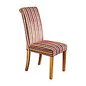 Genoa Jupiter Shiraz Upholstered Scroll Back Dining Chair