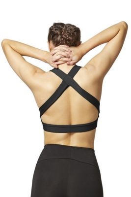Luxe Cross Back Gym Bra Black 2X