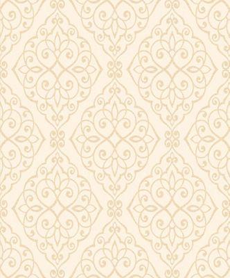 Crown Jasmine Ivory Sparkle Wallpaper