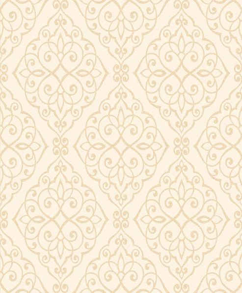 Crown Jasmine Ivory Sparkle Wallpaper