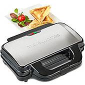 Andrew James Deep Fill Toasted Sandwich Maker - Non-Stick - Fast Heating - 900w - Chrome