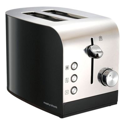 Morphy Richards Equip 2 Slice Toaster - Black/Silver