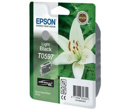 Epson T0597 Light Ink Cartridge for Stylus R2400 Printer - Black