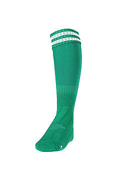 Precision Training 3 Stripe Pro Football Socks - Green & White