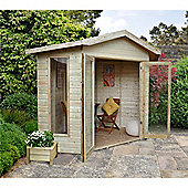 8 x 8 Rock Honeybourne Corner Summerhouse - Assembled Garden Wooden Summerhouse 8ft x 8ft (2.44m x 2.44m)