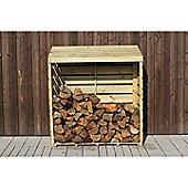 Brackenstyle FSC Slow Growing Pine Pressure Treated Log Store - 120cm