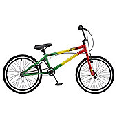 "Rooster Jammin 20"" Wheel 25/9 BMX Bike Green/Yellow/Red"