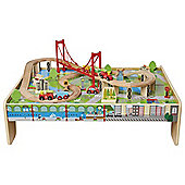 Carousel Wooden Train Table