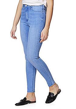 F&F High Rise Tube Pant Super Skinny Jeans - Light wash