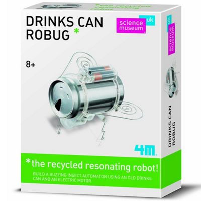 Great Gizmos Science Museum Drink Can Robug