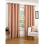 Hamilton McBride Faux Silk Lined Eyelet Cappuccino Curtains - 90x90 Inches (229x229cm)