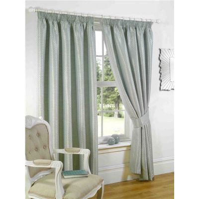 Venice Pencil Pleat Curtains 117 x 137cm - Duck Egg