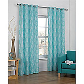Hamilton McBride Vermont Eyelet Lined Curtains - Teal