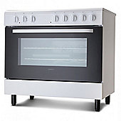 Servis SC900W | 90cm Electric Range Cooker in White | Ceramic Hob, Single Oven