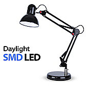 Adjustable Daylight LED Desk Lamp, Gloss Black