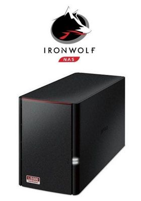 Buffalo LS520/12TB-IW Linkstation 520 2-Bay 12TB(2x6TB Seagate IronWolf) Consumer NAS