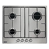 Zanussi-ZGG65411XB 60cm 4 Burner Gas Hob in Stainless Steel