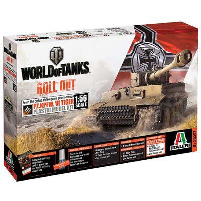 ITALERI W56501 World of Tank Series - Tiger ! 1:56 Tank Model Kit