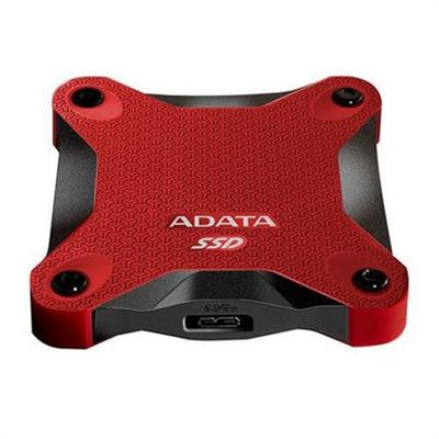 ADATA SD600 (256GB) External Solid State Drive (Red)