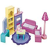 Le Toy Van Dolls House Sugar Plum Sitting Room Set