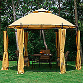 Outsunny 3 x 3m Garden Metal Gazebo + Side walls in Orange