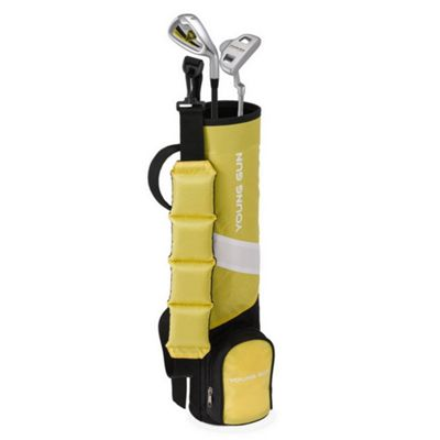 Young Gun Zaap Birdie Junior Kid Right Hand Golf Set + Bag Age 3-5 - Yellow