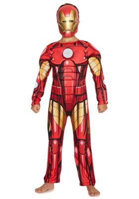 Marvel Iron Man Light-Up Fancy Dress Costume 5-6 yrs Red