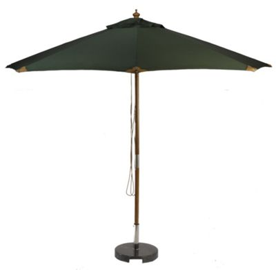 Glencrest Seatex Sturdi 3m Square FSC Eucalyptus Wood Pulley Parasol - Green