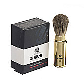 Kent Anodized Aluminium Travel Shaving Brush
