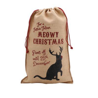 Cat Christmas Gift Sack